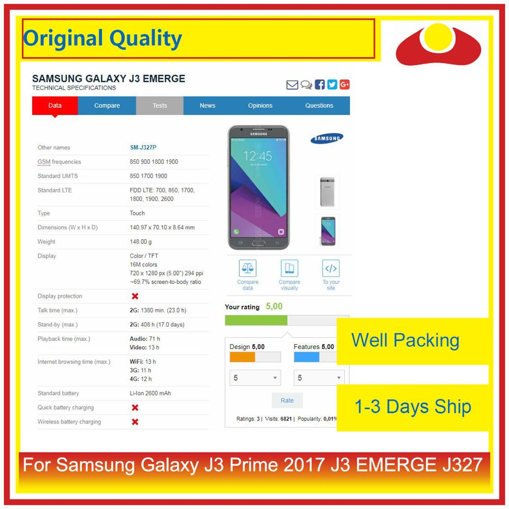 """Image 5 - Original 5.0"""" For Samsung Galaxy J3 Prime 2017 J3 EMERGE J327 LCD Display With Touch Screen Digitizer Panel Pantalla Complete-in Mobile Phone LCD Screens from Cellphones & Telecommunications"""