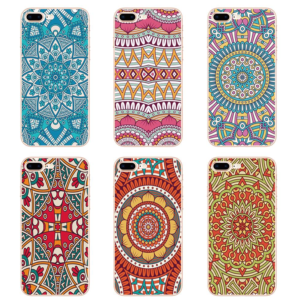 3836763375f Minason Chinese Style Mandala Flower Soft Silicone Phone Case for iPhone 5  S 5S SE 6 6S 7 8 Plus X Cover Capinhas de Celular