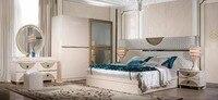 2017, распродажа тумбочке coiffeuse Таблица де Макиллаж низкая цена с королем Размеры кровать 4 двери шкаф комод Мебель для спальни комплект