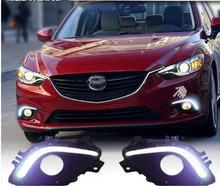 LIGHTS GUIDE LED DRL Driving Daytime Running Day Front Fog for mazda 6 ATENZA 2014 цена в Москве и Питере