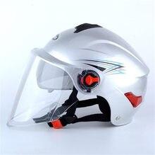 Harley lente dupla capacete Com Viseira de Sol Interior Do Vintage Metade do Rosto Da Motocicleta Capacete verão Casco Casque Capacetes de Moto Retro