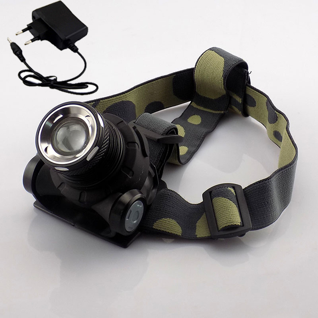 Cree Q5 Headlamp Head Light Lamps 1600 Lumens Headlight with built-in Li-ion rechargeable Frontal Flashlight led head torch lamp