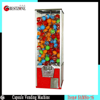 Candy Round Ornament Gift Toy vending machine with metal construction for kid bouncing ball or plastic capsule with 45 56mm