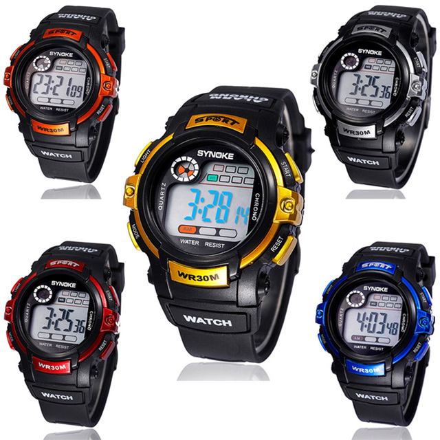 Fashion Sports Watch Waterproof Multifunction Watches Boy Digital LED Quartz Wri