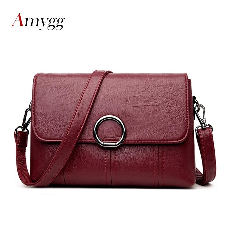 AMYGG Brand High Quality Women Crossbody Bags Female Totes Handbags Women Bag Handbags Solid Leather Messenger Shoulder Bag цена 2017