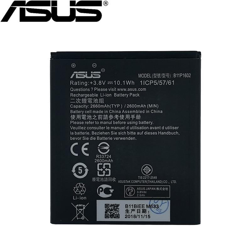 ASUS 100% Original 2660mAh Bateria Para ASUS Zenfone B11P1602 Ir 5 ZB500KL X00AD X00ADC X00ADA Bateria Do Telefone Mais Recente Produção
