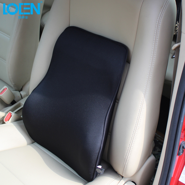 LOEN Super Soft Breathable Car Seat Back Cushion Bamboo Charcoal Space Memory Foam Lumbar Support For