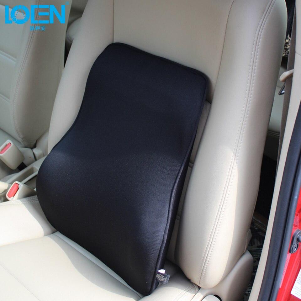 LOEN Super doux respirant siège de voiture coussin arrière bambou charbon espace mémoire mousse soutien lombaire pour siège de voiture et chaise de bureau|car seat back cushion|lumbar supportfoam lumbar -