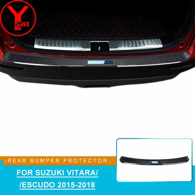 Suzuki Vitara IV 2015Up Cromo Parachoques Trasero Protector Scratch Guard acero inoxidable de acero