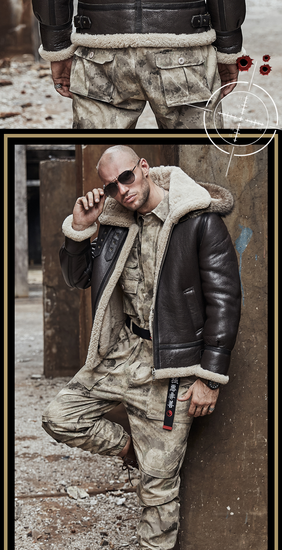 HTB1ZHFYalCw3KVjSZFuq6AAOpXaA men genuine leather jacket man real original ecological sheepskin coat raccoon fur detachable hood winter jackets short design