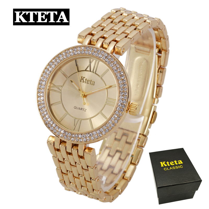 Ladies Watches Gold Watch Women Dress Top Brand Women's Fashion Stainless Steel Bracelet Quartz Watch Relogio Feminino Hodinky 2016 women diamond watches steel band vintage bracelet watch high quality ladies quartz watch