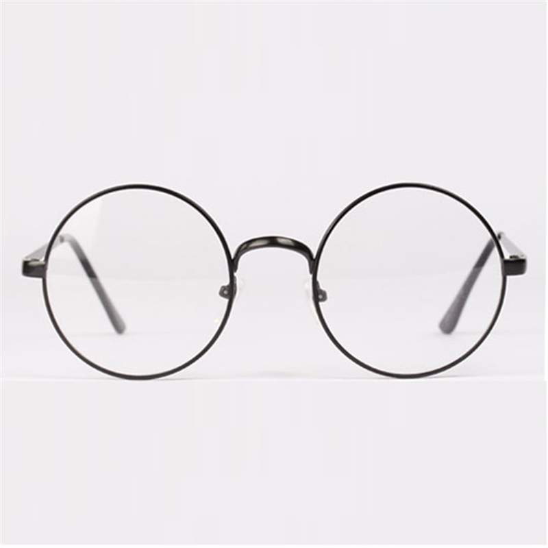 ▽Fashion Retro Round Circle Metal Frame Eyeglasses Clear Lens Eye ...