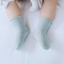 3 Pairs Anti-slip Newborn Baby Tube Socks Toddler Socks Spring Autumn Soft Ribbed Baby Infant Cotton Baby Clothes 5 pairs lot soft baby socks toddler candy color spring summer breathable cotton baby socks anti slip newborn baby socks
