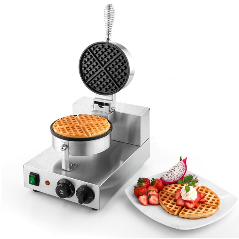 High Quality Stainless Steel Single Commercial Electric Waffle Maker Machine edtid new high quality small commercial ice machine household ice machine tea milk shop