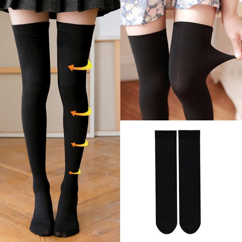 High Elasticity Girl Cotton Knee High Socks Uniform Chemistry Pipette Measuring Cup Women Tube Socks