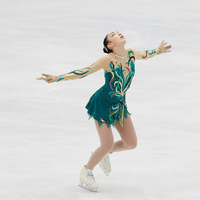 Customization CUSTOM MADE TO FIT FIGURE ICE SKATING BATON TWIRLING COSTUME Color Can Be Chosen By
