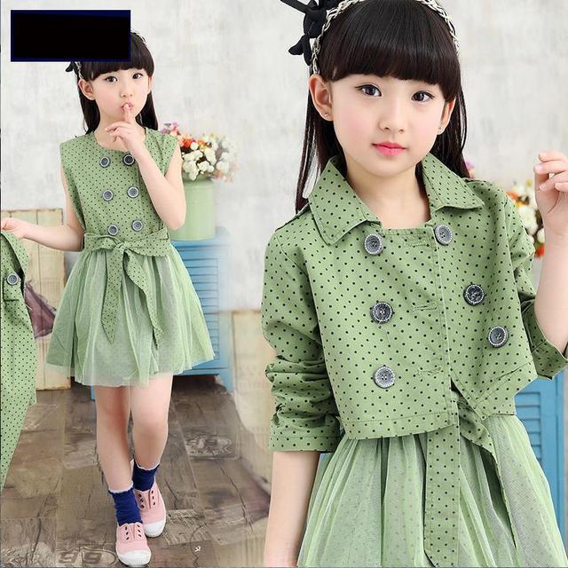 Aliexpress.com : Buy Girls spring suit 2017 new Korean dress coat ...