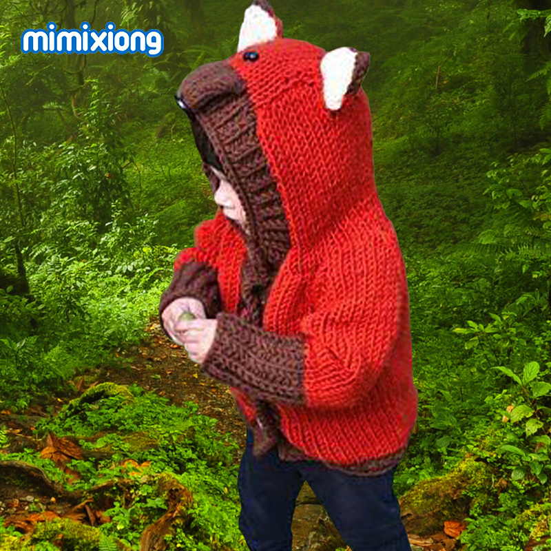 Baby Girls Kids Infant Winter Knit Crochet Sweatshirt Sweater Pullover Clothes