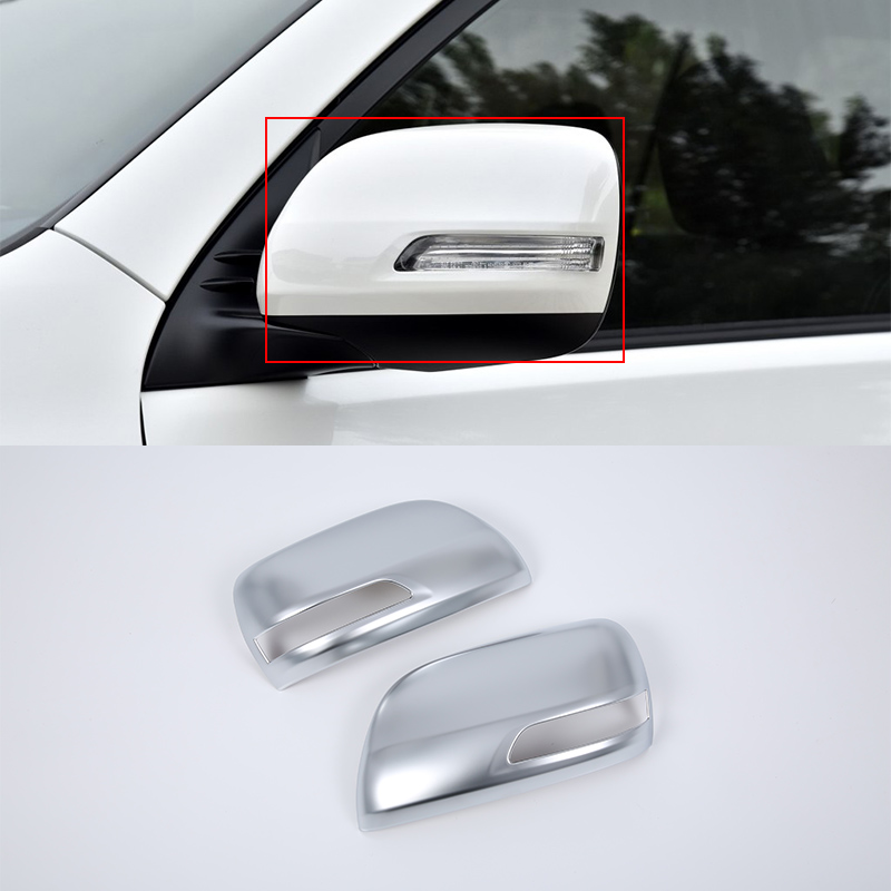 Car Accessories Decoration ABS Rearview Mirror Cover Side Mirror Cover Trim 2pcs For Toyota Prado FJ150 2018 in Interior Mouldings from Automobiles Motorcycles