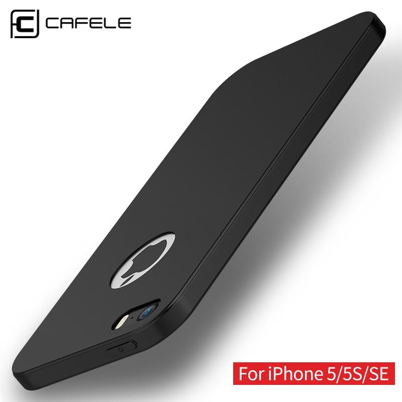 CAFELE eredeti tok iPhone 5 5S tokhoz Candy színű szilikon TPU puha ultravékony divatos luxus tok iPhone SE 5 tokhoz
