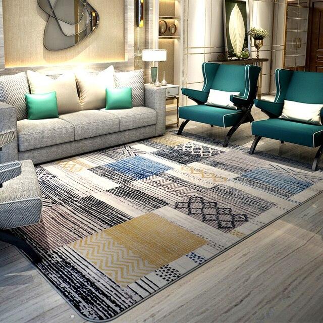 An And South Korea Wind Carpet Living Room Coffee Table Bedroom Bedside Blanket Mattress Plaid Simple Modern Door