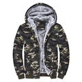 2016 winter jacket men coat casual hoodie outwear printed baseball mens jackets thick Camouflage warm coats large size 4XL mz095