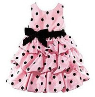 Retail Promotion New 2015 Summer Girl Dresses Kids Dress Girl Red And Pink Girls Princess Dress