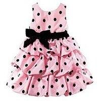 Showhash perakende promosyon yeni yaz kız elbise çocuk kız kırmızı ve pembe kız prenses elbise