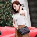 Issey Miyak Variety folding handbag new geometric Lingge Messenger Bag fashion boom shoulder bag luminous