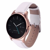 1.22 inch 2.5D Curved Screen IP54 Waterproof Couples Style Leather Strap Smart Bracelet with Heart Rate Monitor & BT Call