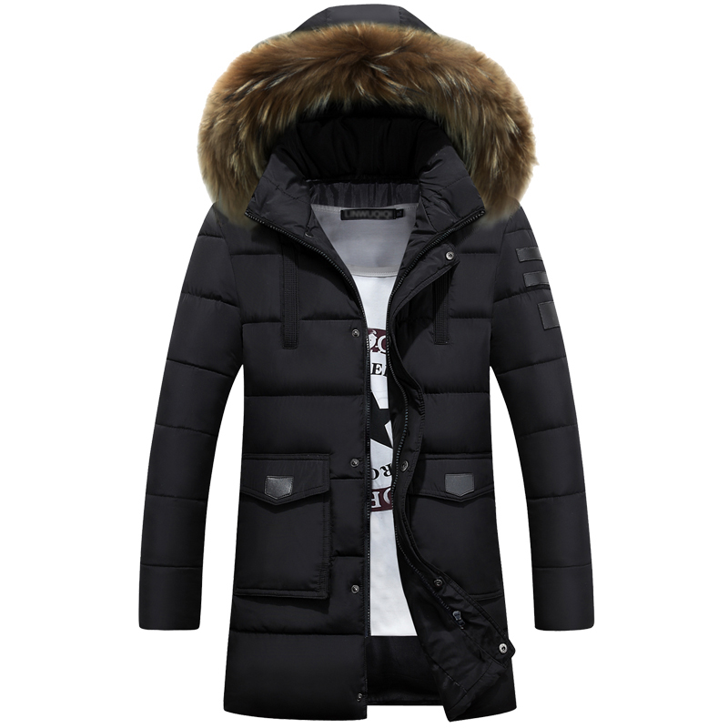 Raccoon Dog Natural Fur 2016 New font b Winter b font Jacket font b Men b
