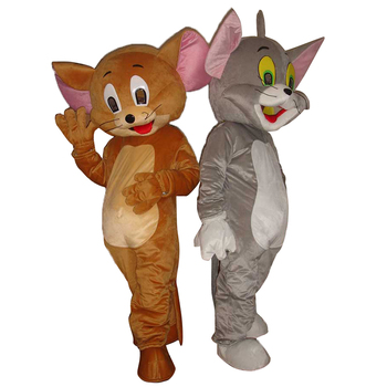 Jerry Mouse&Tom Cat costume/Cartoon Costumes/halloween/Mouse&Tom Cosplay/Christmas party mascot free shipping