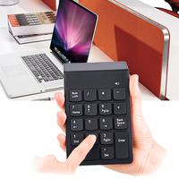 Etmakit عالية الجودة لوحة رقمية صغيرة 18 مفاتيح لوحة المفاتيح الرقمية 2.4G USB اللاسلكية عدد لوحة المفاتيح ل DeskNotebook متوافق