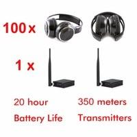 500m 3 kanał cichy dyskotekowy pakiet (100 składany RF słuchawki i 1 nadajnik) w Słuchawki douszne i nauszne od Elektronika użytkowa na