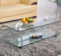 Simple Tea Table Hot Bending Glass Tea Table