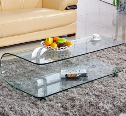Simple Tea Table Hot Bending Glass Tea Table