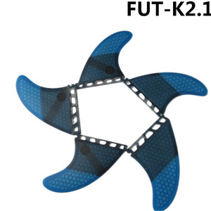 Image 4 - Surf Future Fin K2.1 Surfboard Fins Blue color Fiberglass Honeycomb Tri Quad Fins Quilhas Thruster 5 fin Set
