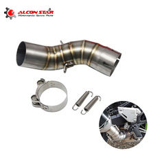 Alconstar-Z900 51mm Motorcycle Exhaust Muffler Middle Link Pipe Accessories For Kawasaki Z900  Z 900 2017 2018 Slip-on Racing