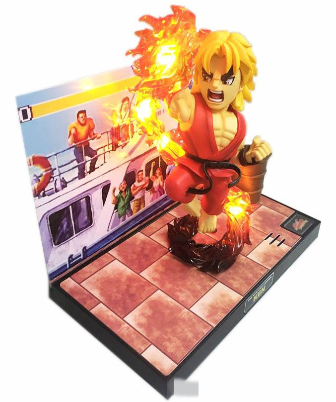 все цены на  Street Fighter The New Challenger Ken with Light & Sound PVC Action Figure Collectible Toy 22cm KT3291  онлайн