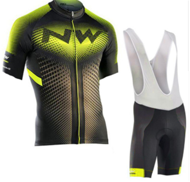 NW 2019 summer riding Jersey bike set breathing team sports shirt on bicycle man riding bicycle clothes short bike riding Jersey