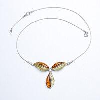 Роскошные поддерживать простой и природной яшмы amber зеленый оловянные воск Серебряное ожерелье Кулон Аутентичные верность