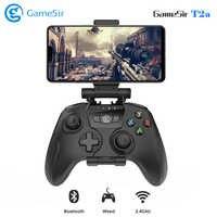 [En Stock] GameSir T2a sans fil Gamepad Bluetooth USB contrôleur de jeu câblé soutien 3.5 ~ 6 pouces téléphone pour Android/PC/TV Box