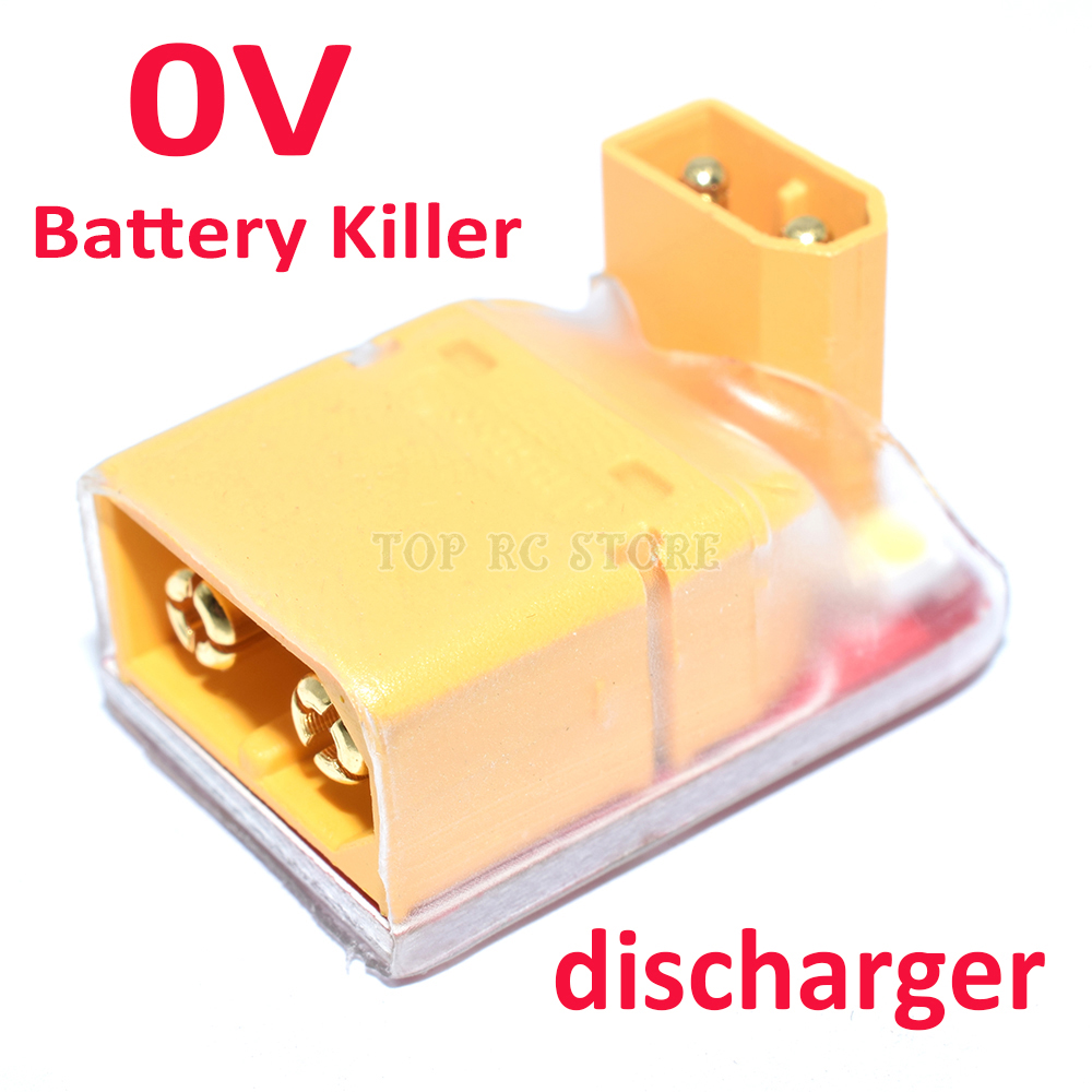RC Lipo Battery 0V Killer Discharger Discharge For Lithium Polymer Battery XT30 XT60 Safety Protection Environment(China)