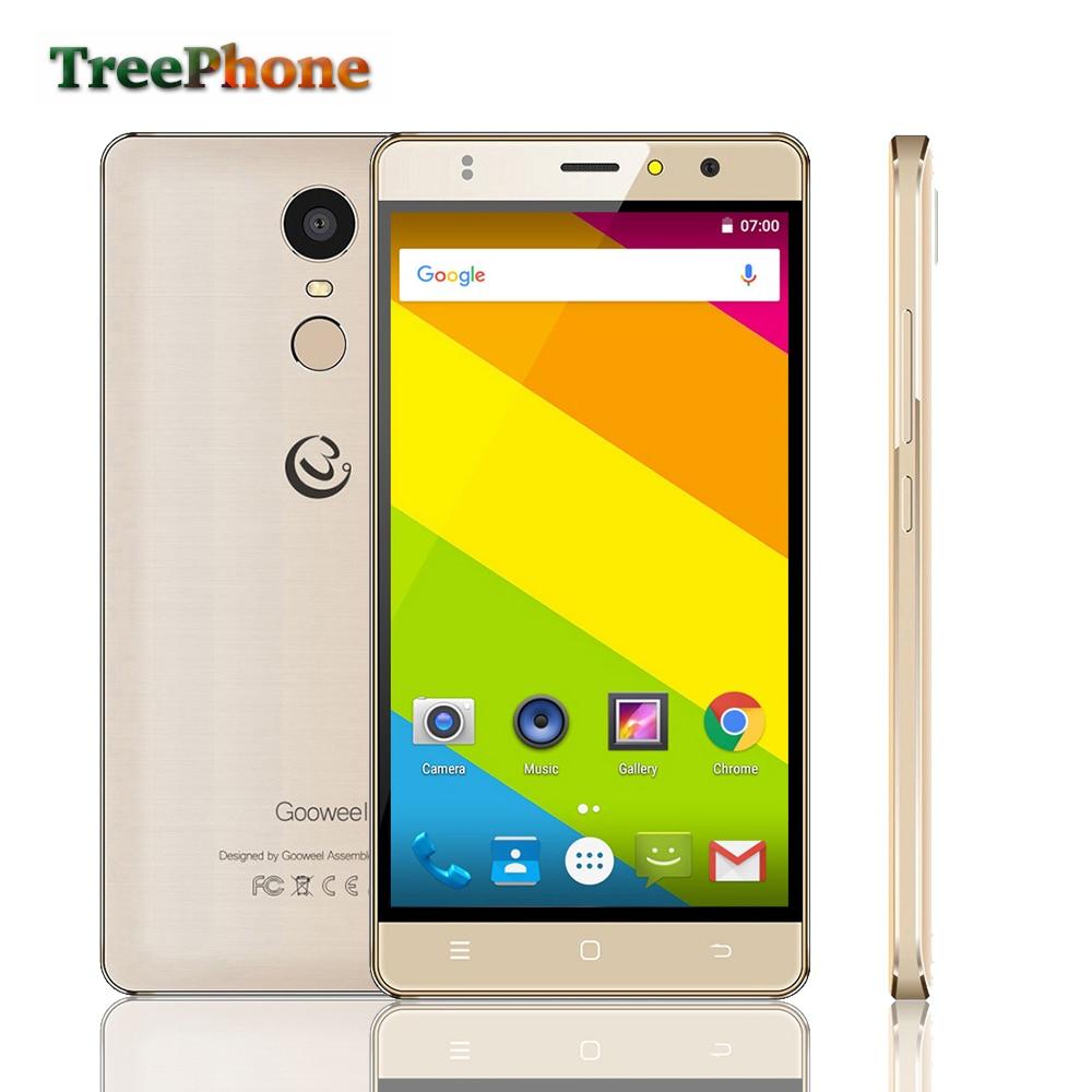 Цена за Оригинал Gooweel M17 4 Г мобильного телефона Отпечатков Пальцев ID MTK6737 Quad core 64bit 5.5 дюйма IPS Android 6.0 смартфон 16 ГБ 8MP GPS сотовый