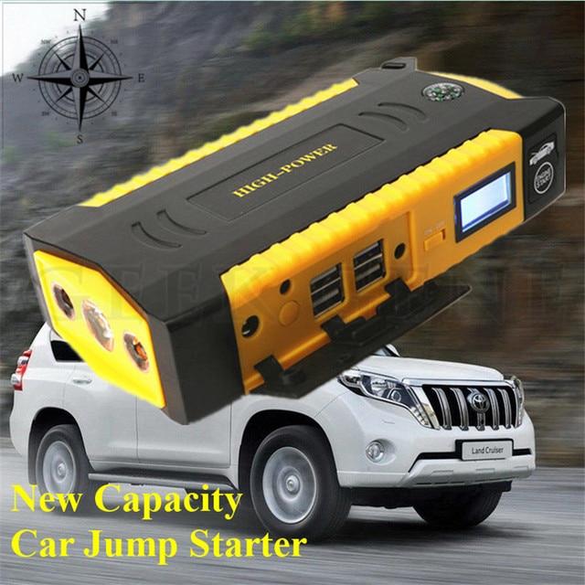 A+Multi-Function 16000mAh 12V Gasoline Diesel Car Jump Starter 4USB Power Bank Compass SOS Light 600A Peak Car Charger Free Ship