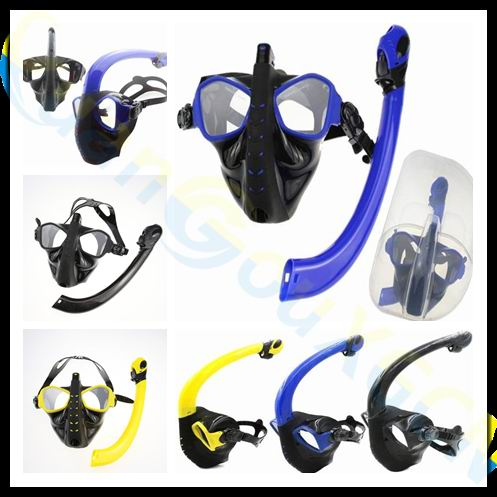 2set alien adult scuba Diving equipment set silicone full dry Snorkel+diving mask+PP box swimming Goggles glasses Breathing Tube 2018 new warrior full face full dry anti fog anti leak breathing tube diving mask with tempered lens goggles diving glasses