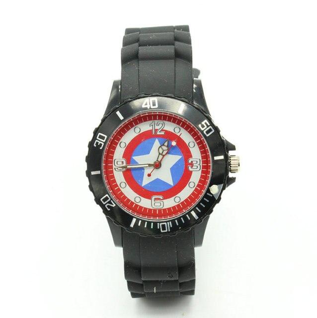 d04f46fc78f Marvel super hero capitão américa ícone homens relógio de quartzo presentes  de aniversário da criança