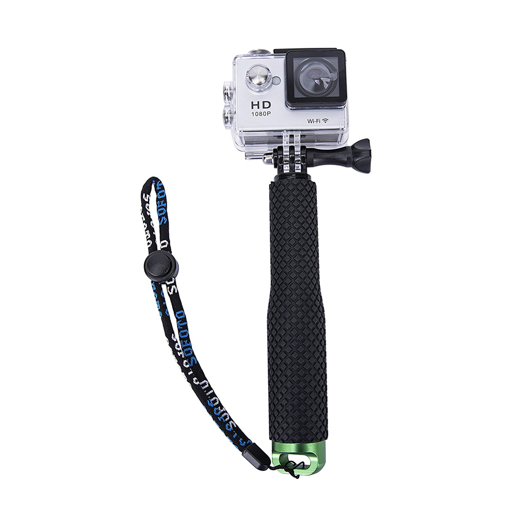 19 49cm portable gopro selfie stick extendable monopod for gopro hero 4 3 hero5 session xiaomi. Black Bedroom Furniture Sets. Home Design Ideas