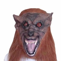 Eco Friendly Latex Wolf Head Mask For Balls Parties Cosplay Halloween Carnival Bar Props Party Masks