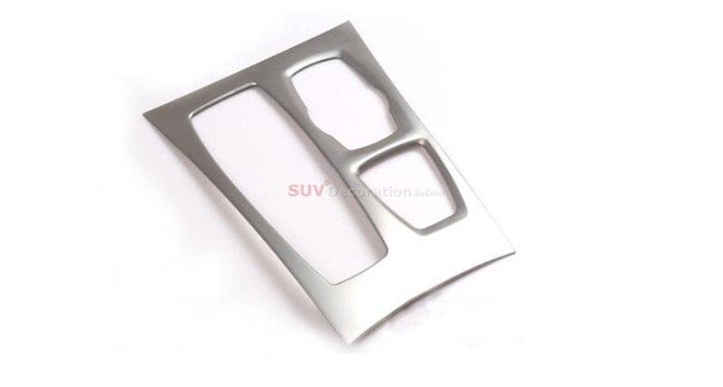 Pour BMW X5 E70 2010-2013 levier de vitesse intérieur en acier inoxydable garniture de panneau de Transmission 1 pièces entraînement à gauche